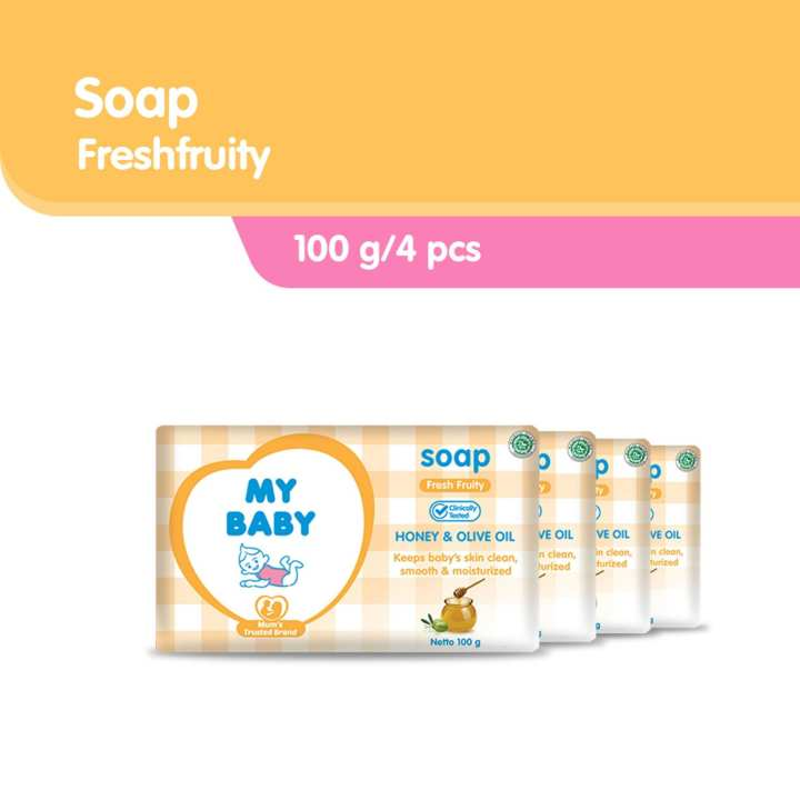 My Baby Bar Soap Fresh Fruity [100 g/4 pcs]