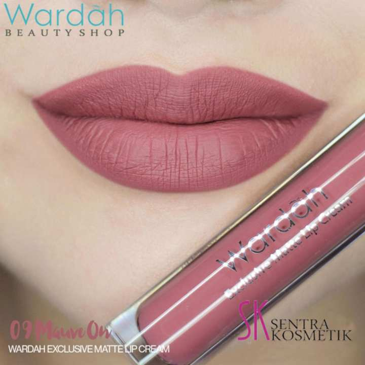 Wardah Exclusive MATTE LIP CREAM No 09 - MAUVE ON | Lazada