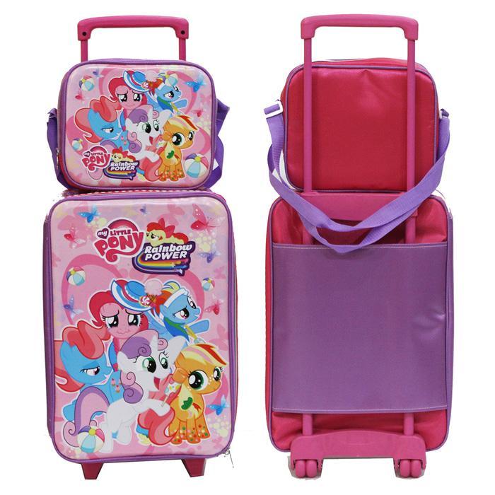 Onlan Set Koper dan Lunch Bag Anak Bahan Sponge Tahan Air LOL - Little Pony -