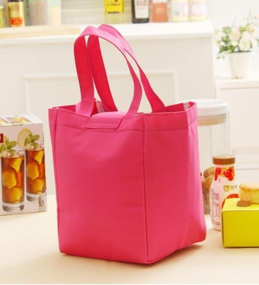 TM012 - Word Lunch bag /Cooler bag /Tas Bekal Motif Tulisan Velcro PROMO TERMURAH