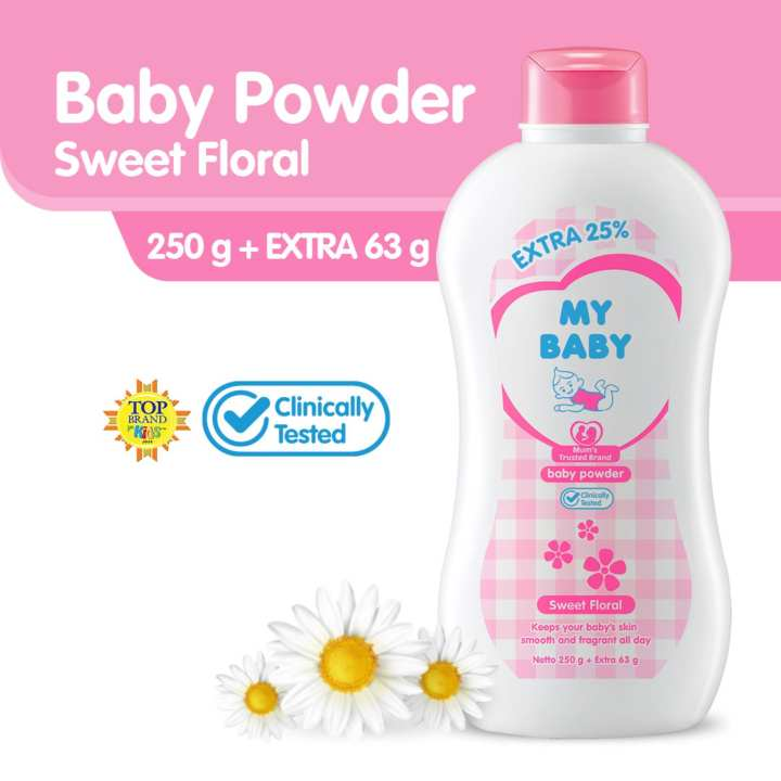 My Baby Powder Sweet Floral Extra Fill Bedak Bayi [250 g]