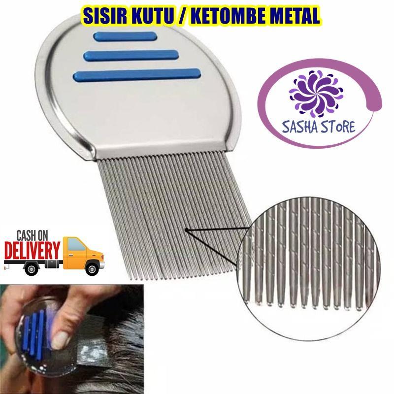 SS Sisir Kutu Ajaib Metal / Sisir Serit / Sisir Rambut Bahan Metal / Sisir Ketombe