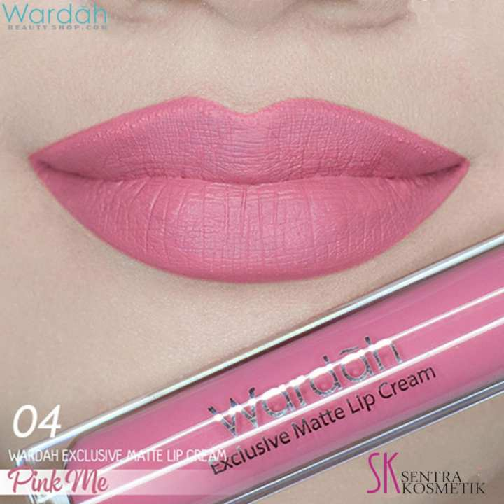 Wardah EXCLUSIVE MATTE LIP CREAM No 04 - PINK ME | Lazada