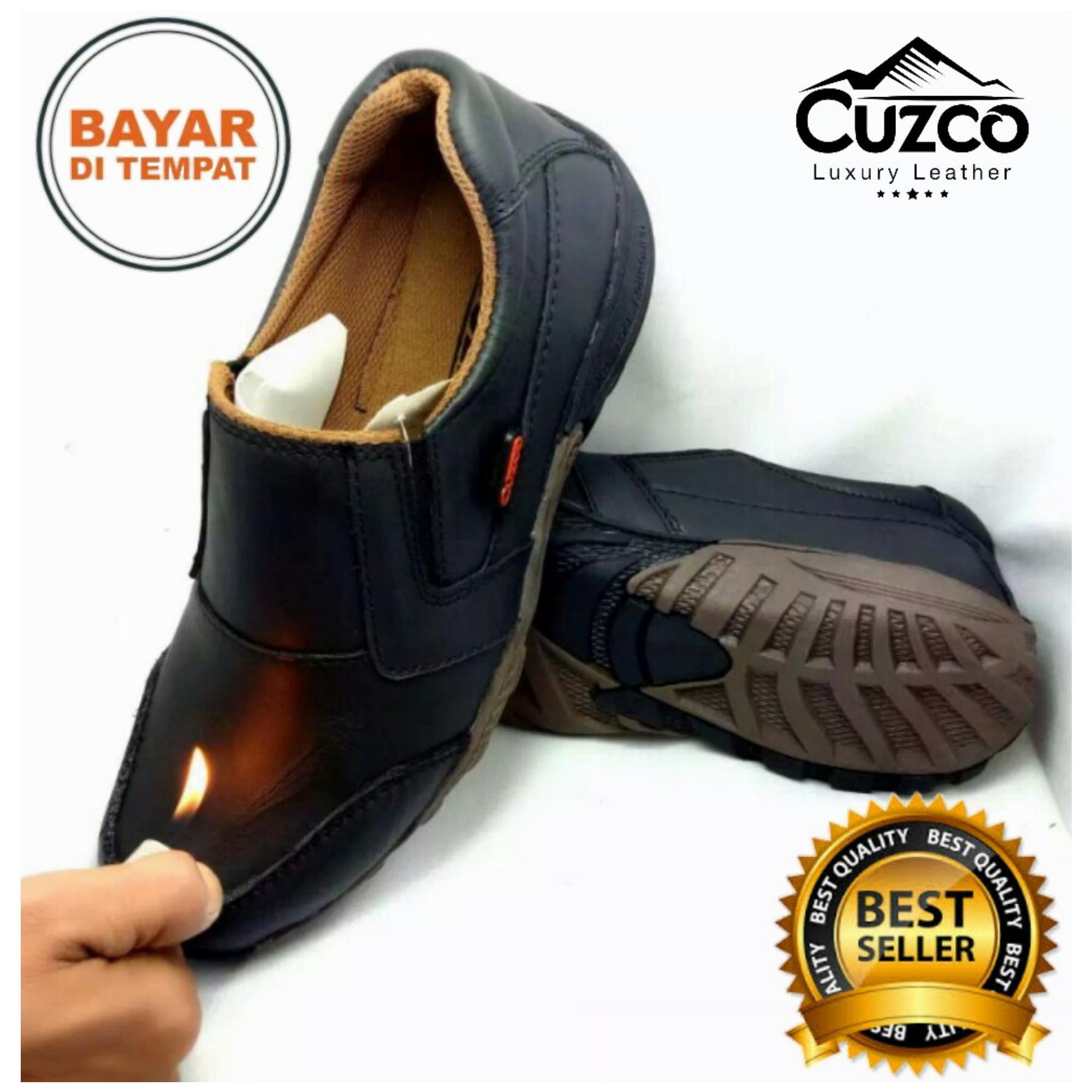 Gila Sepatu Formal Pria Pantopel Cevany Veil Kulit Asli Casual Anti Licin Cuzco
