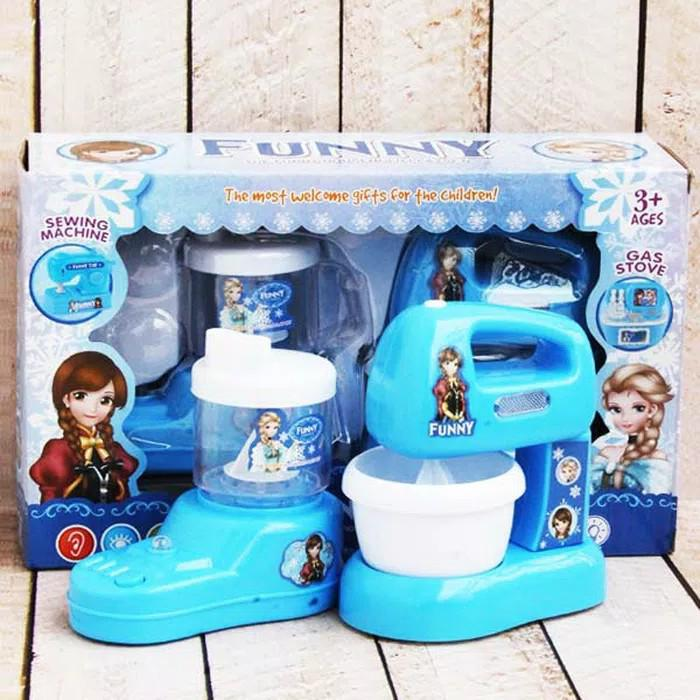 0960150148   Frozen Mainan Blender Anak Funny Household Set isi 2pcs