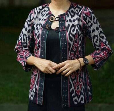 Queen Etnic Outer Baju Tenun Blanket Wanita Trendy 100 Original Handmade Tenun Troso Jepara Outr 01 Lazada Indonesia