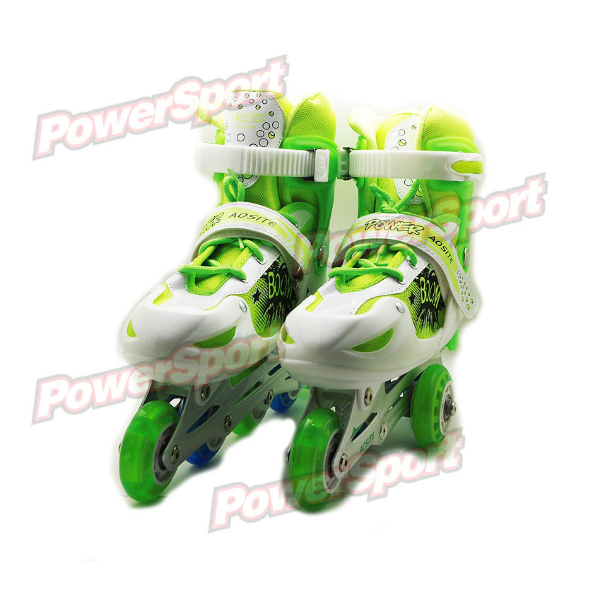 PowerSport Boom inLine Skate Sepatu Roda Light-Up Adjustable Wheel L (38-42 26bb7e8918