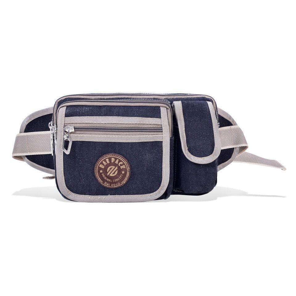 Rp55.000Tas Pinngang wistbag Baepack Men Business Bag - Multi Compartment Satchel Bag - Biru