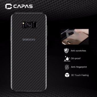 3X Topias 3D Serat Karbon Kembali Protectiv Film untuk Samsung Galaxy S8
