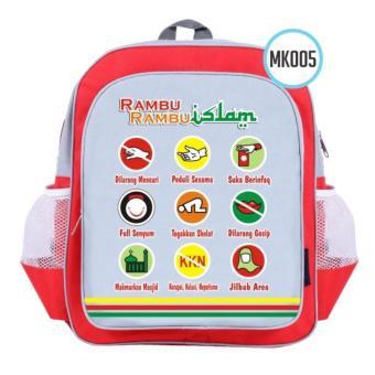 """Moslem Kids Tas Ransel Anak """"Rambu-Rambu Islam"""" untuk PAUD & TK ["""
