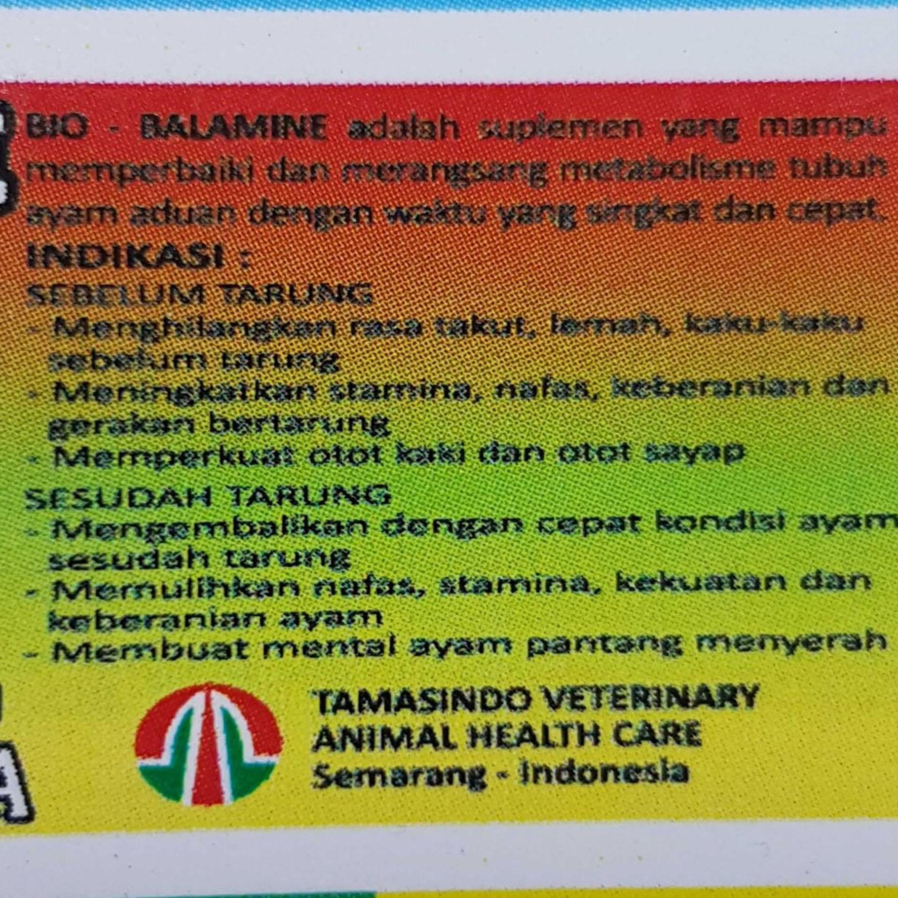 BIO BALAMINE 10 Ml - Obat Suplemen Penambah Tenaga Ayam Aduan Tarung Petarung | Lazada Indonesia