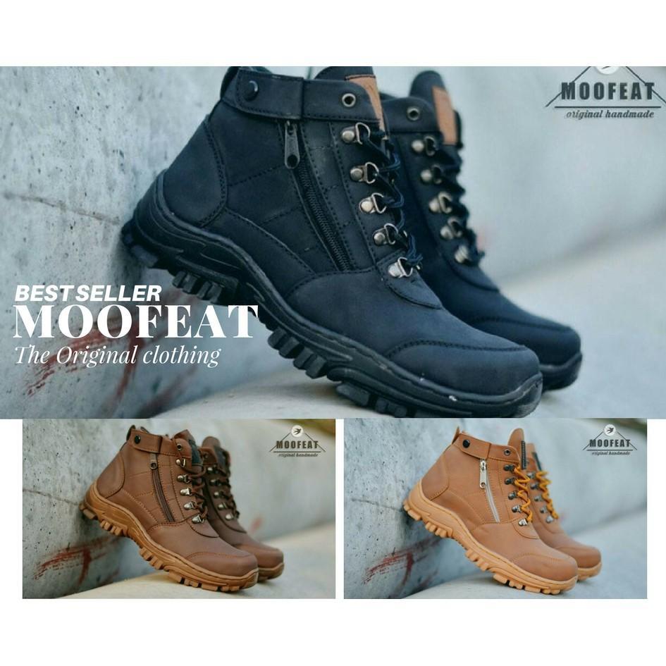 Promo Moofeat Elastico Men Boots Work & Safety Boots Sepatu Pria Klasik Boots Murah
