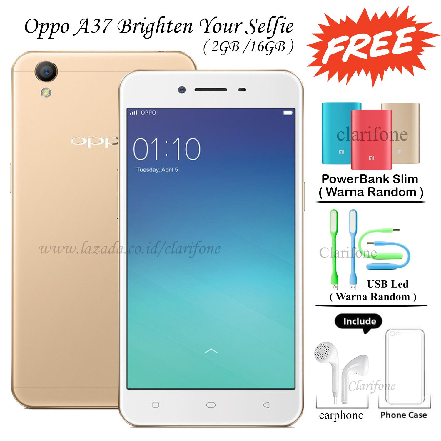 Robot Source · Rose Gold Gratis Powerbank Source Oppo F1s Selfie Expert 32 GB Gold Source Oppo A37 16GB. Source · Oppo A37 16GB Layar 5 inch Jaringan 4G ...