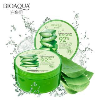 Bioaqua Aloe Vera 92% Soothing Gel Cream Krim Gel Lidah Buaya Bentuk Daun Melembabkan Kulit Perawatan Jerawat Membuat Wajah Cerah Berseri - 220gr thumbnail