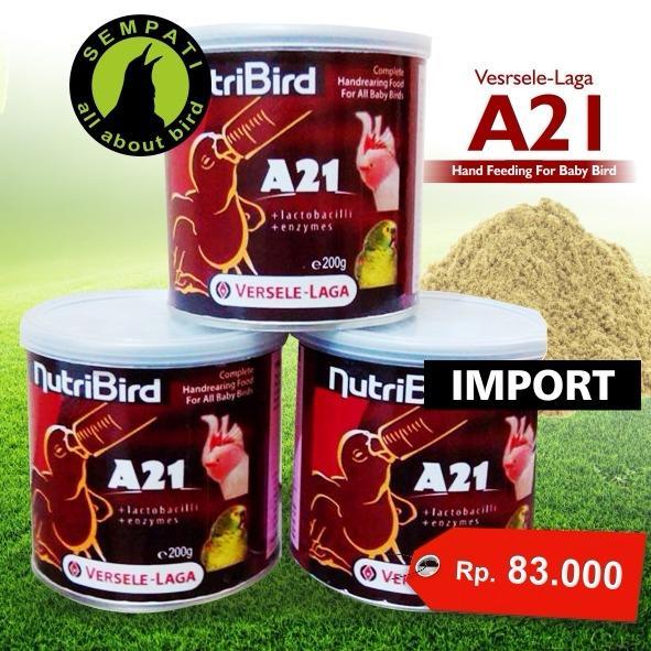 Pakan Burung Piyik Lovebird Kenari Murai Nutribird A21 Versele Laga