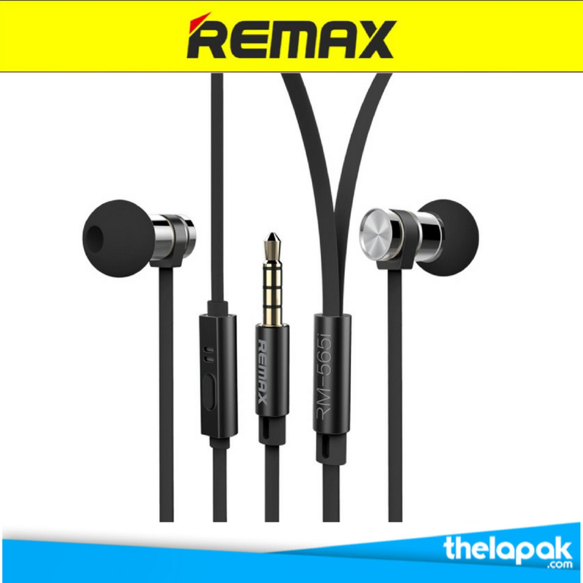 Remax Earphone Headset RM565i for Iphone + Android (Hitam)