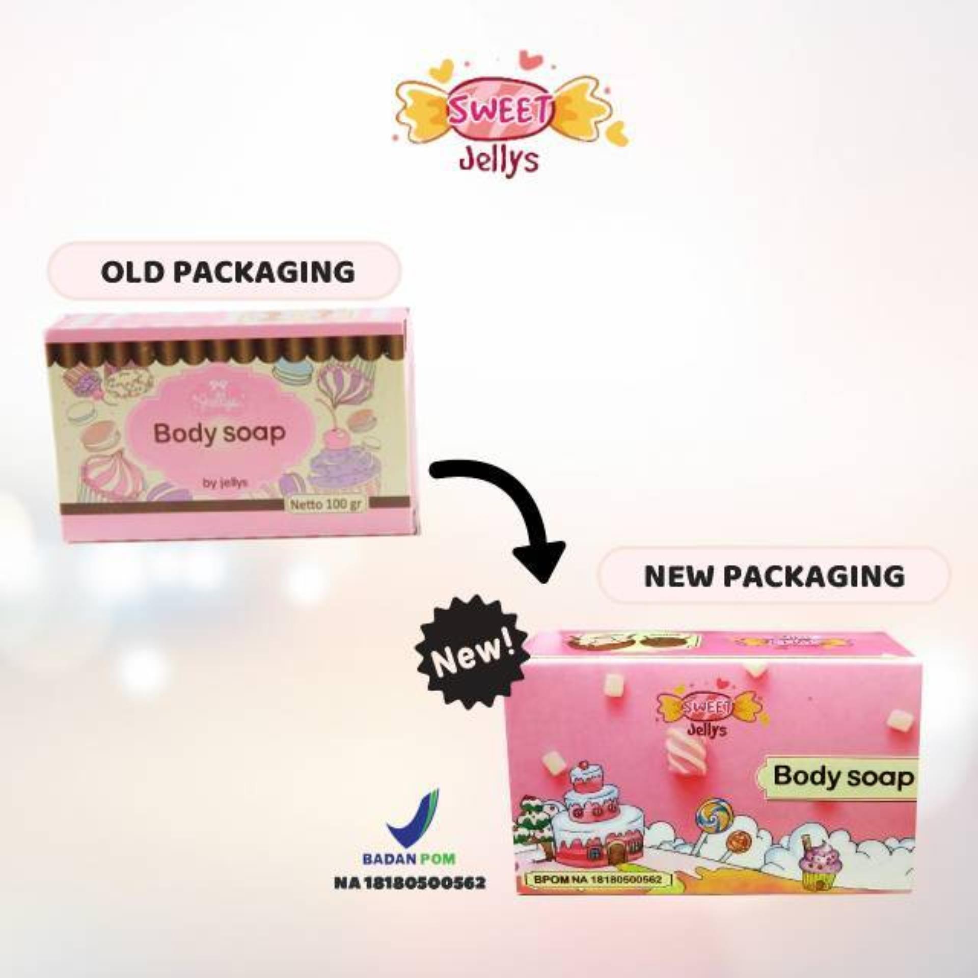 Pure Body Soap by Jellys BPOM Sabun Pemutih Badan - Sweet Jelly - 100 gr - BPOM ORIGINAL- 100 gram - 1pc | Lazada Indonesia