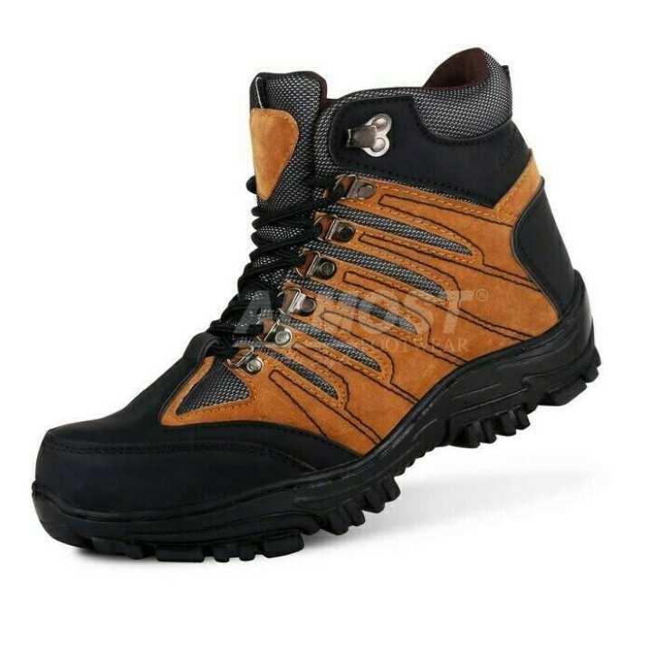 sepatu boot pria safety anti slip almost wolfrin original