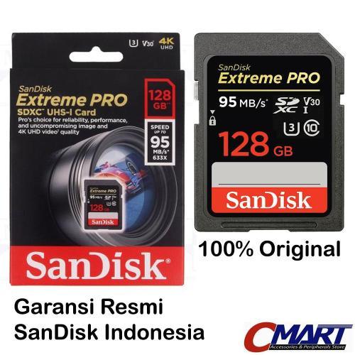 SanDisk Extreme PRO SDHC 128GB 95mb/s SD SDXC card SAN-SDSDXXG-128GGN4 - SD & SDHC Cards | DuniaAudio.com