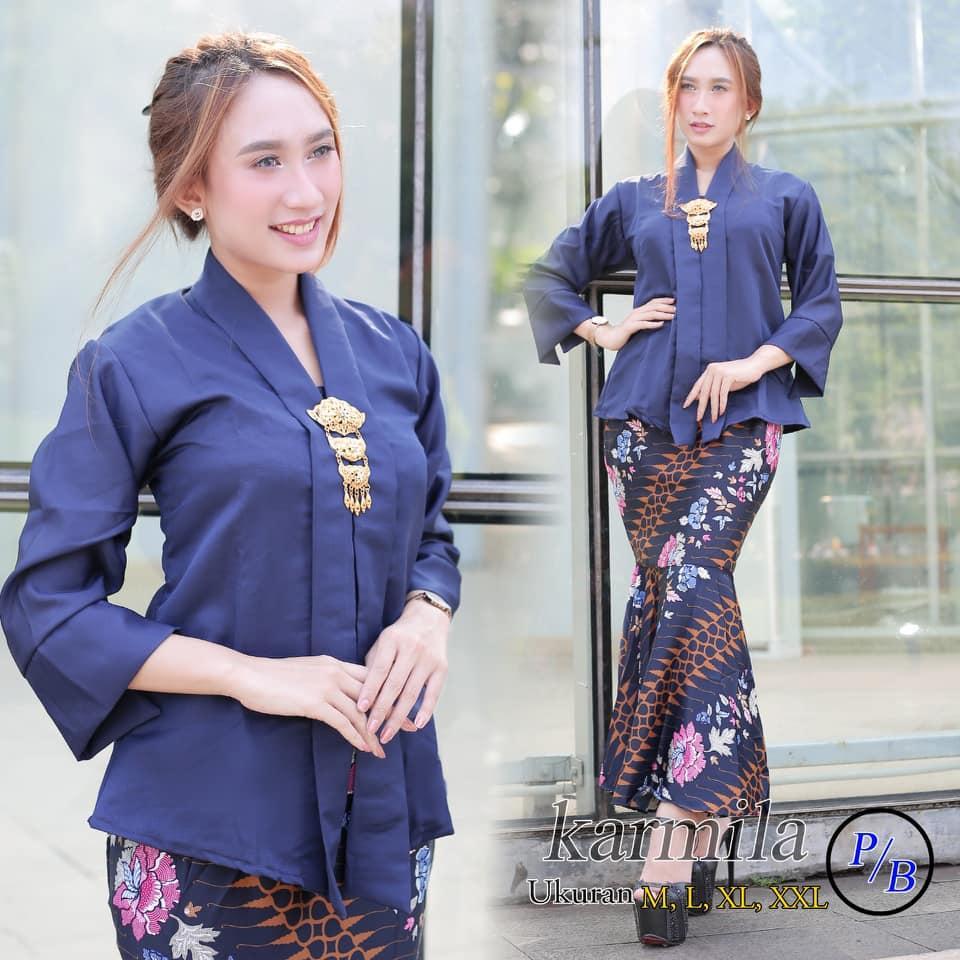 Fashion Kebaya Daftar Harga November 2018 Dailydarling Orcha One Shoulder Blue Biru Muda M