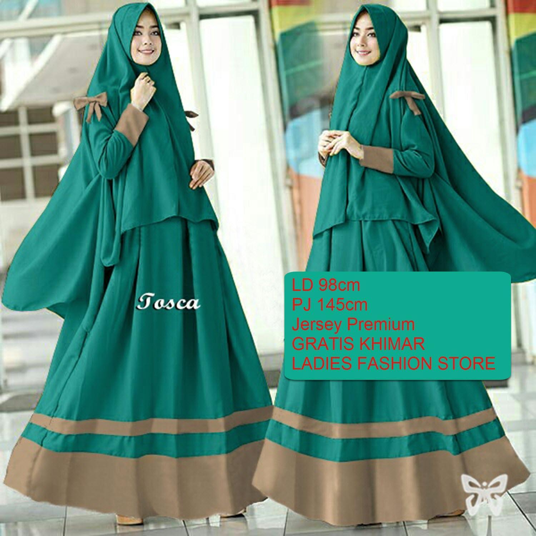 Gamis Wanita Muslimah Gratis Jilbab Lebaran Panjang Syari Syar Dress