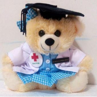 TR Boneka Beruang Profesi Dokter 22cm - Cream fdd85b1115