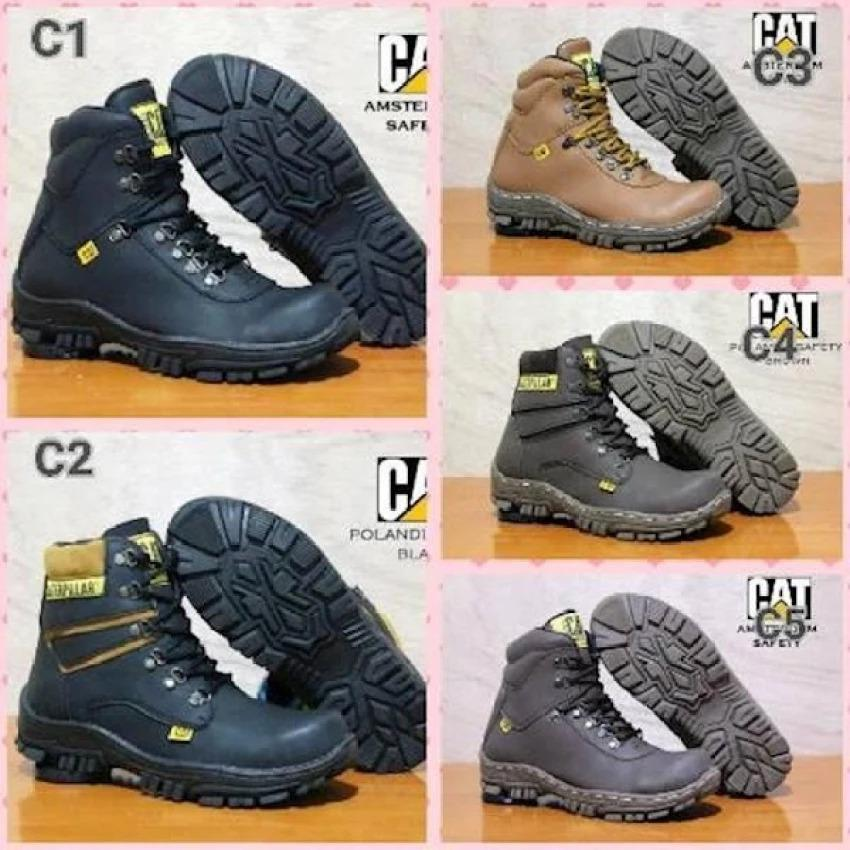 Sepatu Caterpillar Boots Safety Ujung Besi Kerja Pria Proyek