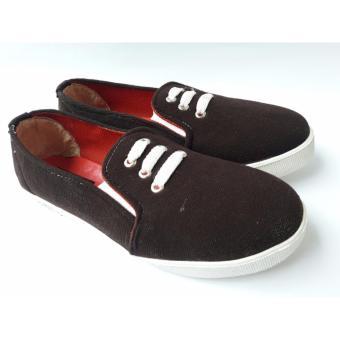 De Mode Sepatu Wanita Sneaker AM1 Coklat
