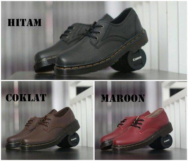 Promo sepatu casual pria dr martens dokmar docmart low boots formal casual  kerja hitam coklat maroon efd7936983