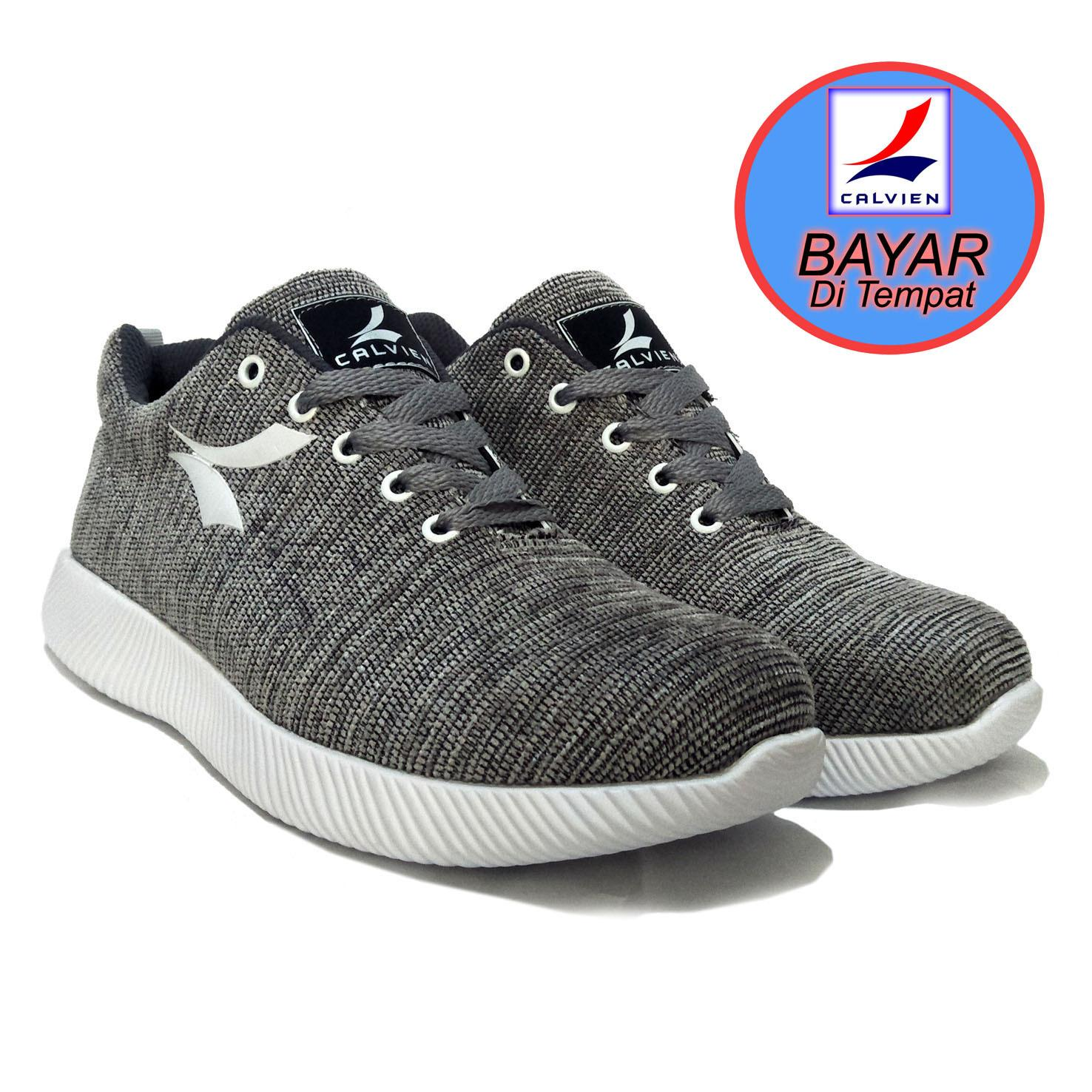 Calvien Sepatu Pria Sneakers Sepatu Pria Kets Sepatu Olah Raga Sepatu  Kasual Kode ce41fa3556
