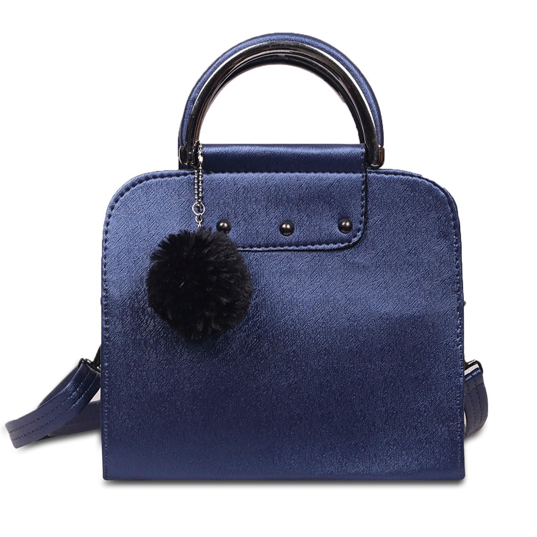 Tas Wanita Women Fashion PU Tote Leather Handbags Shoulder Bags Black Free Legging Stirup Black (
