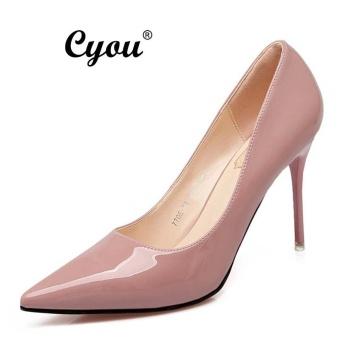 Cyou 2017 Baru Kedatangan Wanita Kantor Sepatu High Heels Sepatu Fashion Kulit  Sepatu Nyaman Partai Sepatu d3e8f4778f