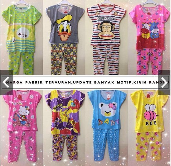 grosir baju tidur piyama cp anak 3-12 tahun stelan fashion murah eb73f6ffdc