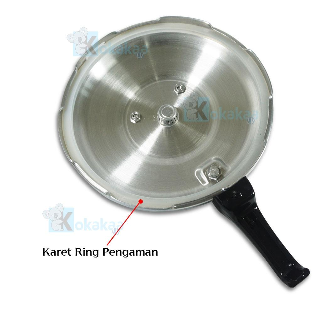TecStar Panci Presto 24 Cm TP-900 LHS Capacity 8 Liter Pressure Cooker Stainless Steel Coated | Lazada Indonesia