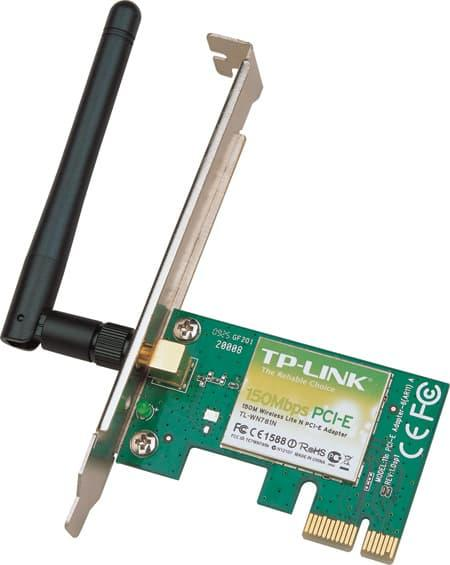 Networking - Tp-Link Tl-Wn781Nd : 150Mbps Wireless Pci Express Adapter, Atheros, 1T1R, 2.4Ghz, - ready stock