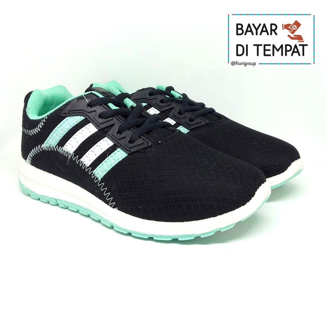 FIURI - Ando Original - Plano Black Tosca - Sepatu Olahraga Sneakers Sport - Sepatu Ando