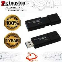 Kingston DT100G3 16GB DataTraveler USB3.0 Flashdisk ORIGINAL Garansi 1 Tahun