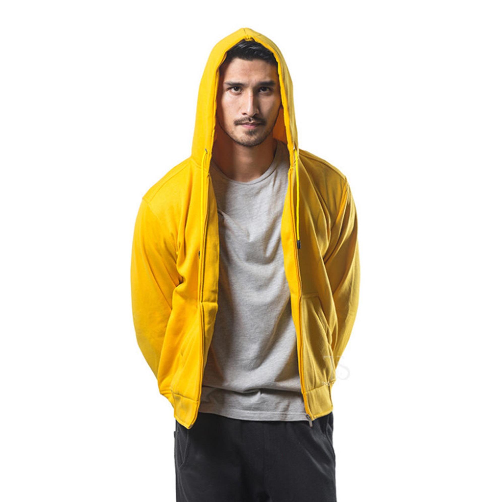 Bajukitaindonesia Jaket Hoodie Zipper Polos KUNING - Pria dan WanitaRp89.000
