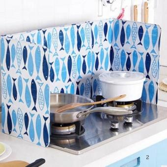 Kuhong Dapur Minyak Aluminium Foil Plate Gas Kompor Percikan Minyak Layar Alat Dapur Memasak Mengisolasi Splash