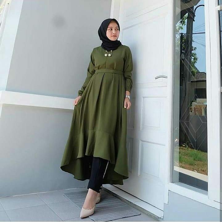 MC Nada Tunik Wolfice Atasan Baju Muslim Original Pakaian Wanita Hijab  Terbaru Fashion Cewek Trendy Modis Supplier Blouse Top Termurah Tunik  KekinianRp74. ... b3358aebaa