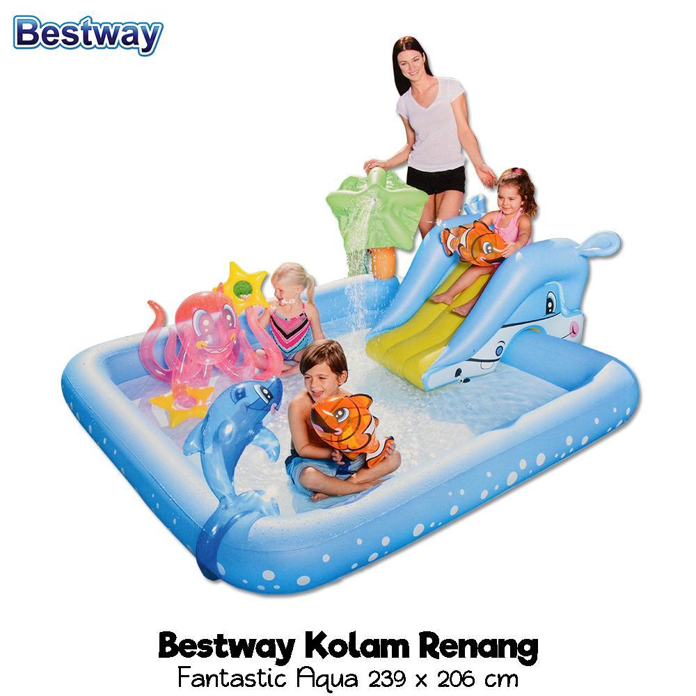 Bestway Fantastic Aquarium Play Pool Kolam Renang Perosotan Mainan Anak Ular Viking 53052
