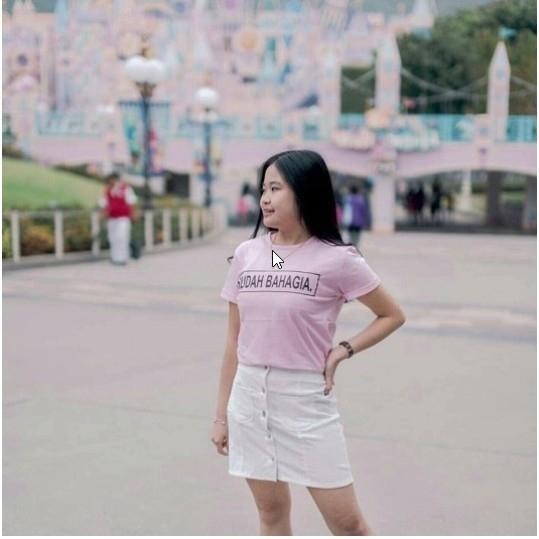 Hazelfashion T-shirt Tumblr Tee SUDAH BAHAGIA - PINK