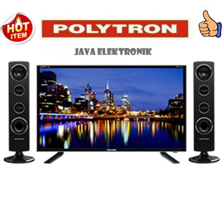 Polytron PLD32T1500 Tower CinemaX TV LED - Hitam [32 Inch] garansi 5 tahun garansi