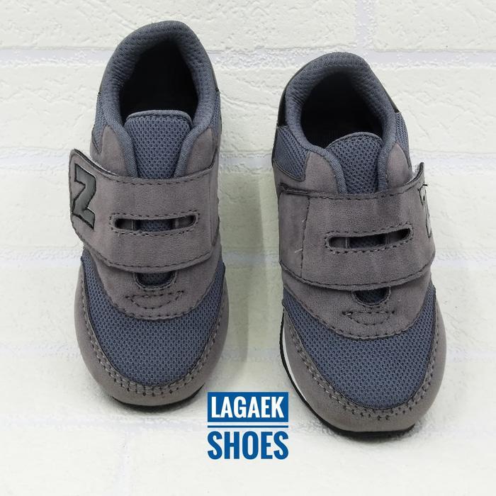 DISKON Sepatu anak 3 4 5 6 7 tahun SPORT keren velcro ABU-GRAY simple