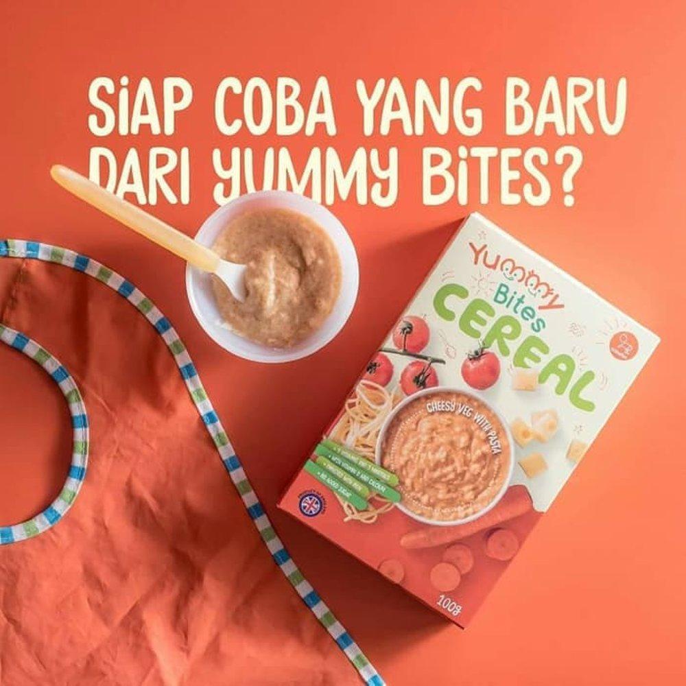 Arsyad Babyshop - Yummy Bites Cereal Cheesy Vegetable With Pasta - Makanan Bubur Bayi