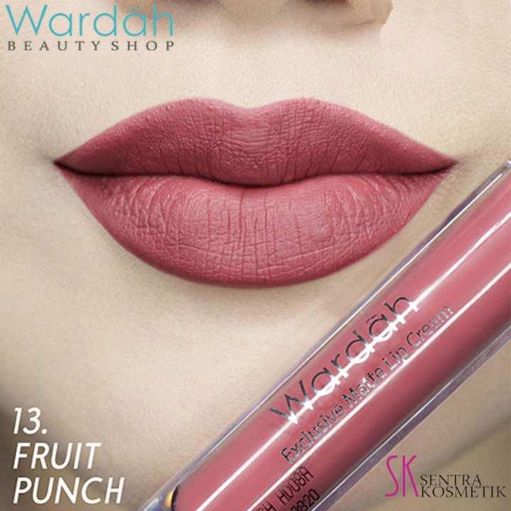 Wardah Exclusive MATTE LIP CREAM No 13 - FRUIT PUNCH