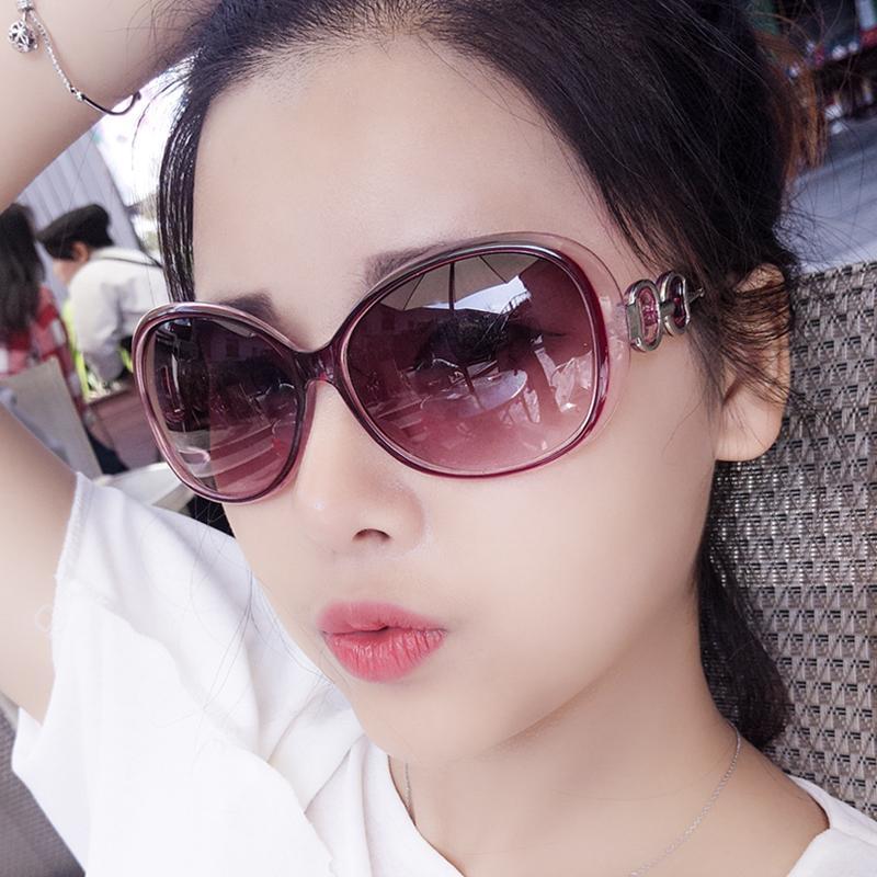 Kacamata hitam wanita pasang Model artis kacamata 2017 model baru Bundar  kepribadian kacamata hitam wanita wajah 9aca1b6689