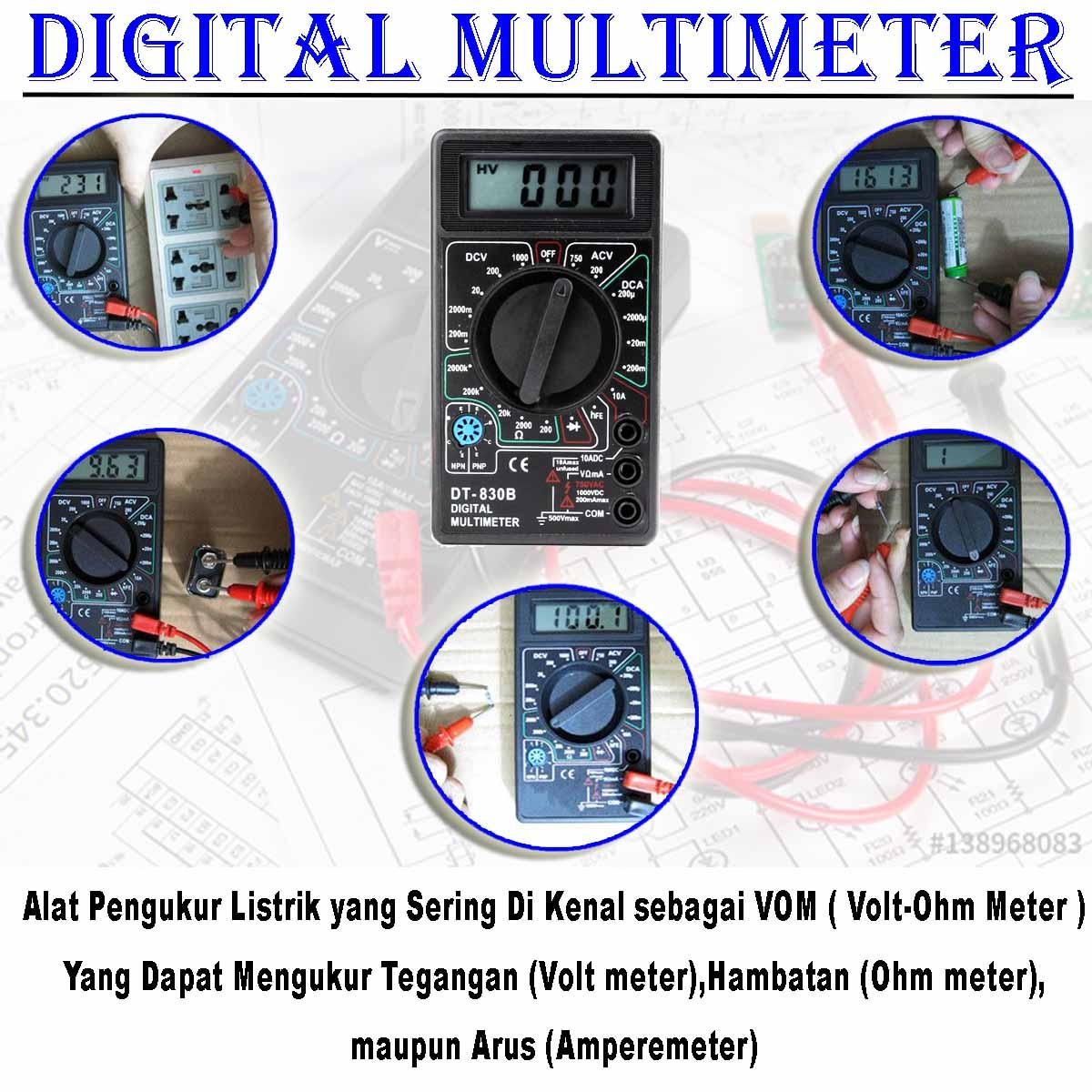 EELIC Multitester - Avometer - Multimeter Digital DT830B | Lazada Indonesia