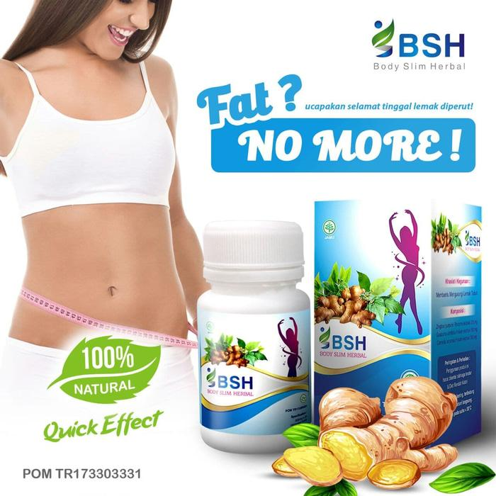 BSH Body Slimming Herbal Diet Pelangsing ORIGINAL Segel Track - 30 Capsule