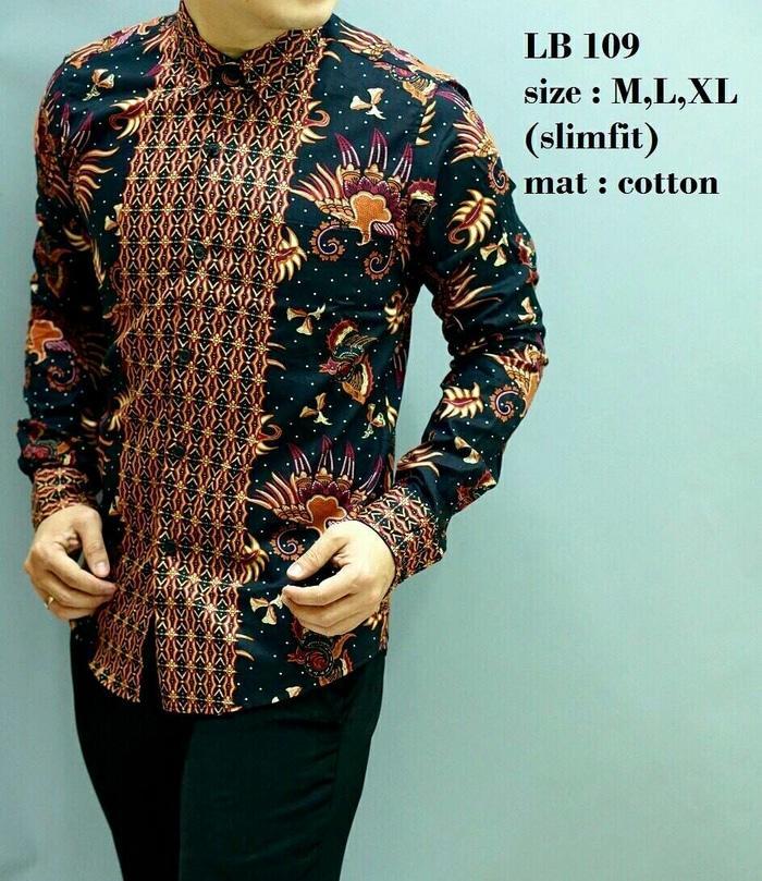 Baju Batik Pria Slim Fit Modern Lengan Panjang D252